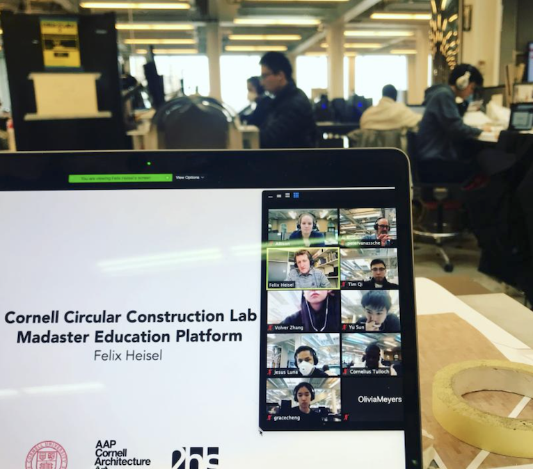 CORNELL UNIVERSITY'S DEPARTMENT OF ARCHITECTURE IN THE COLLEGE OF ARCHITECTURE, ART, AND PLANNING ADOPTS NEW MADASTER EDUCATION PLATFORM